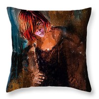 "Departure 14"" x 14"" Throw Pillow for Sale by Galen Valle"