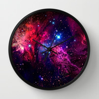 Galaxy! Wall Clock by Matt Borchert