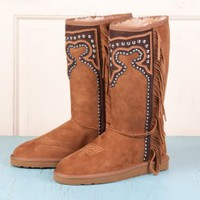 Ladies' Wild For The West Fringe Boots