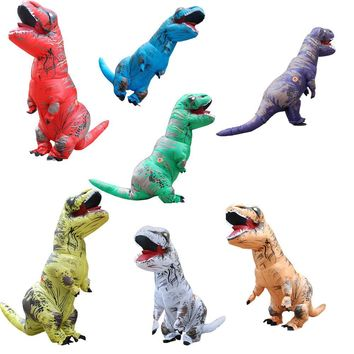 Fan Operated Adulto Inflatable Dinosaur Costume Fantasia Halloween Cosplay Dinosaur Costumes For Adult Disfraces Adultos T-REX