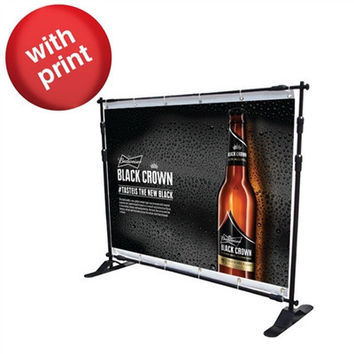 Telescopic Banner Stand 8Ft - with Fabric Print