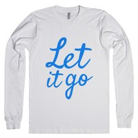 Let It Go Long Sleeve T-shirt Blue