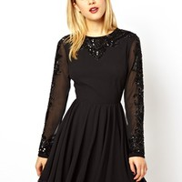 ASOS Gothic Embellished Skater Dress