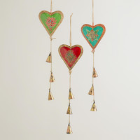 Metal Heart and Bell Mobiles, Set of 3 - World Market