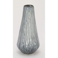 Benzara Charming Glass Drip Grey Vase