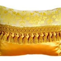 Felt | Gold vintage satin cushion