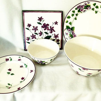 Vintage Waverly Sweet Violets Vintage dinnerware and serving pieces
