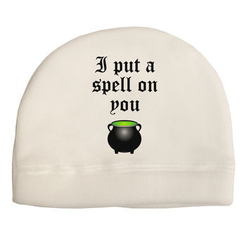 I Put A Spell On You Witches Cauldron Halloween Child Fleece Beanie Cap Hat