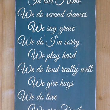 Custom Family Rules Personalized Wood Sign Large House Rules Signs Painted