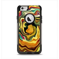 The Swirly Abstract Golden Surface Apple iPhone 6 Otterbox Commuter Case Skin Set