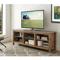Essentials Barnwood 70-inch TV Media Stand | Overstock.com Shopping - The Best Deals on Entertainment Centers