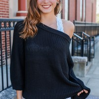 Chilly Nights Sweater - Black