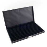 Caddy Bay Collection High Quality Lockable Jewelry Ring Display Storage Case Holds 72+ Rings with 9 Ring Rows-CBC72