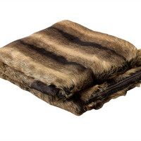 Faux Chinchilla Fur Throw