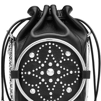 Alexander McQueen - Embellished Leather Drawstring Bag