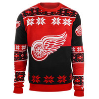 Detroit Red Wings Official Men's NHL Big Logo Sweater
