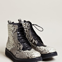 Damir Doma Men's Fusco Python Skin Lace Up Boots