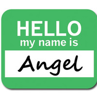 Angel Hello My Name Is Mouse Pad - No. 2