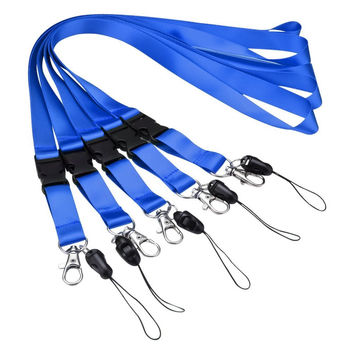 Mobile Phone Straps BLUE Neck Lanyards with Detachable Buckle for Mobile Cell Phones iPods USB Flash Drives Keys ID Card