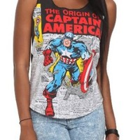 Marvel Universe Captain America Girls Tank Top Size : Small