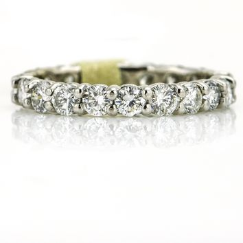 2.08 ct Classic Pave Diamond Eternity Wedding Band in 14k White Gold