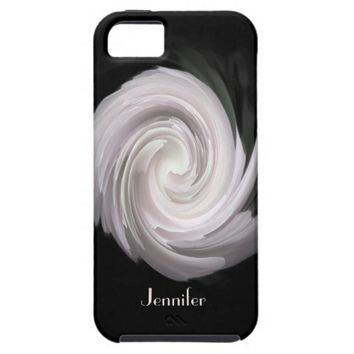iPhone SE, 5/5s Case Pale Pink Abstract Swirl