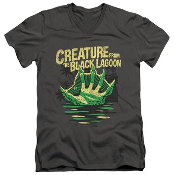 Creature from the Black Lagoon Slim Fit V-Neck Hand Charcoal