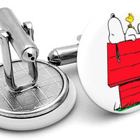 Snoopy Peanuts Sleeping Cufflinks