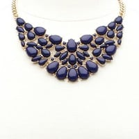 Smooth Stone Bib Necklace