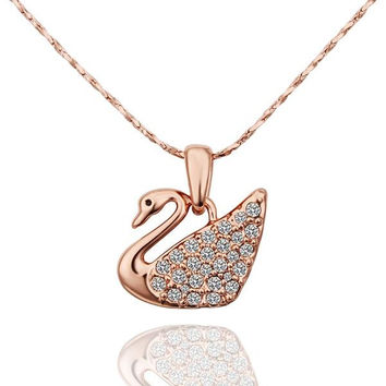 Rose Gold Plated Peaceful Dove Necklace
