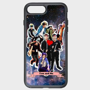 Custom iPhone Case Louis Tomlinson and Zayn Malik collage in nebula