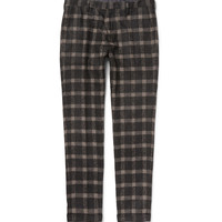 Paul Smith - Slim-Fit Checked Baby Alpaca-Blend Trousers | MR PORTER