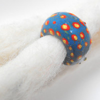 Dreadlock Bead 8mm Dread Bead Folk Art One of A Kind Hand Cast Hand Painted Resin Bead for Dreads