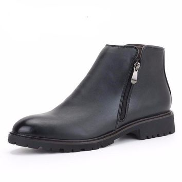 Mens Waterproof Leather Chelsea Boots