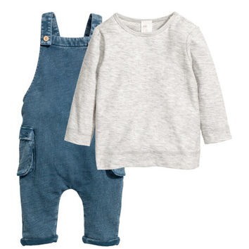 Top and Bib Overalls - from H&M