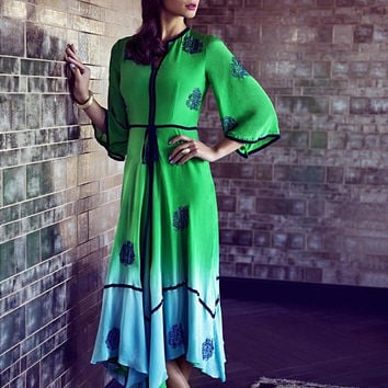 Green Fade Cate Dress by LC