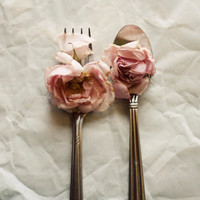 Still life photograph, roses, pink, silver, cottage chic decor, white, romantic, pastel, whimsical, floral, flower art, fine art photo,