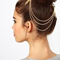 ASOS Stone Feather Hair Brooches at asos.com