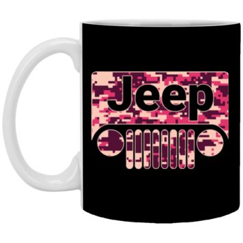Jeep Girl T-shirt-01 XP8434 11 oz. White Mug