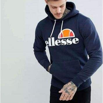 2018 New Autumn Ellesse Hooded Hoodies Men Sweatshirt Graphic Brand Male Long Sleeve harajuku Women And Men's Unisex Sweatshirts