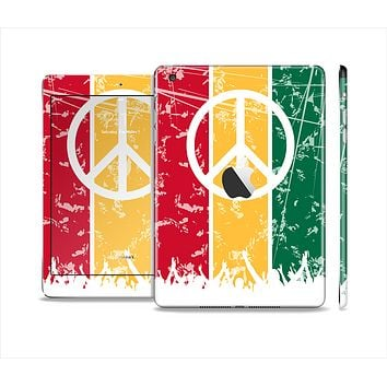 The Red, Yellow & Green Layered Peace Skin Set for the Apple iPad Mini 4