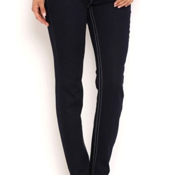 Z Co Skinny Jean with Chandelier Back Pocket Embroidery and Studs