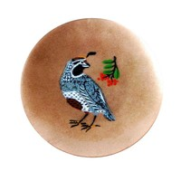 Pre-owned Mid-Century Modern California Quail Tray