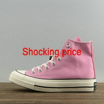 2018 New Women Converse Chuck Taylor All Star 1970s Hi Chateau Rose Pink First String 151225 fashion shoe