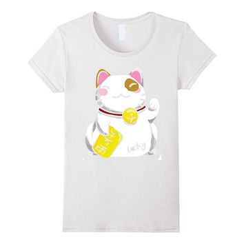 JAPANESE MANEKI NEKO T-SHIRT / LUCKY CAT #1