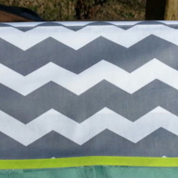 Gray and White Chevron Cover - Fits Silhouette Cameo