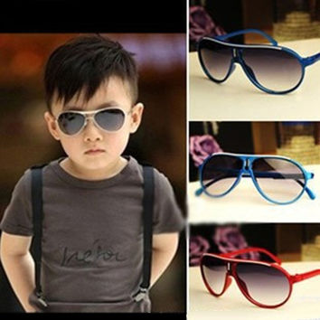 Fashion Children Boys Girls Kids Plastic Frame Aviator Glasses Sunglasses Goggle = 5660724289