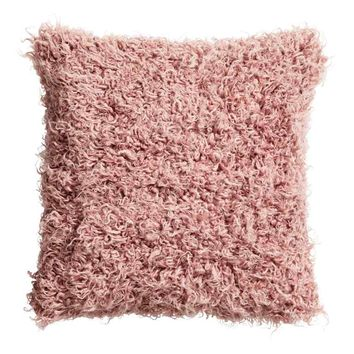 Faux fur cushion cover - Old rose - Home All | H&M GB