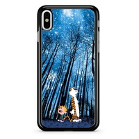 Calvin And Hobbes Galaxy iPhone X Case