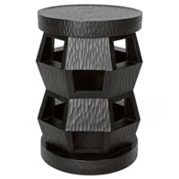Bungalow 5 Zanzibar Black Stool/Side Table